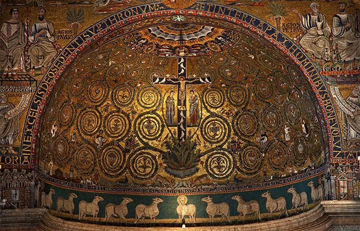 ローマの聖クリメンテ大聖堂のモザイク画