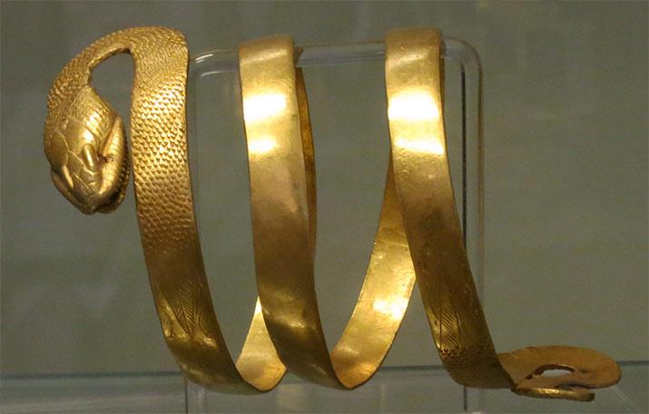 pompeii-golden-snake-armband